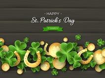 Conception de vacances de salutation de jour de St Patricks illustration stock