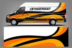 Conception de Van Wrap Livery Conception pr?te d'enveloppe d'impression illustration de vecteur