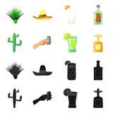 Conception de vecteur de café et de logo latin Collection de café et de symbole boursier national pour le Web illustration libre de droits