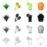 Conception de vecteur de café et de symbole latin Collection de café et icône nationale de vecteur pour des actions illustration de vecteur