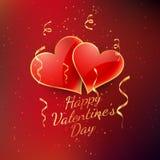 Conception de vecteur de carte de célébration de jour de valentines Images stock