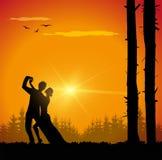 Conception de vecteur de couples de danse Image stock
