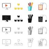 Conception de vecteur d'éducation et d'icône d'étude Collection d'icône d'éducation et de vecteur d'école pour des actions illustration stock