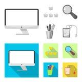Conception de vecteur d'éducation et de logo d'étude Ensemble d'icône d'éducation et de vecteur d'école pour des actions illustration stock