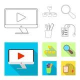 Conception de vecteur d'éducation et de signe d'étude Collection d'icône d'éducation et de vecteur d'école pour des actions illustration stock
