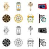 Conception de vecteur d'horloge et de logo de temps Collection de l'illustration courante de vecteur d'horloge et de cercle illustration libre de droits