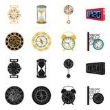 Conception de vecteur d'horloge et de logo de temps Ensemble d'illustration courante de vecteur d'horloge et de cercle illustration stock