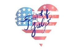 Conception de vecteur d'icône de logo de forme de coeur d'amour de drapeau des Etats-Unis illustration de vecteur