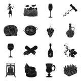 Conception de vecteur d'icône de nature et de produit Collection de symbole boursier de nature et d'établissement vinicole pour l illustration de vecteur