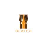 Conception de vecteur d'outils et de bière de BBQ Photos libres de droits