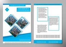 Conception de vecteur de brochure d'affaires de couverture d'insecte, tract faisant de la publicité le fond abstrait, disposition illustration libre de droits