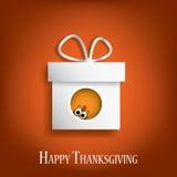 Conception de vecteur de carte de thanksgiving avec traditionnel Image stock