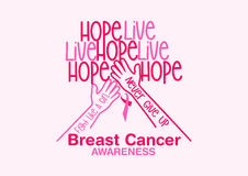 Conception de vecteur de conscience de cancer du sein Images libres de droits