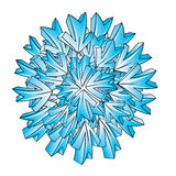 Conception de vecteur de flocon de neige de glace illustration stock