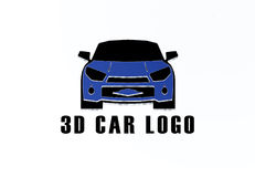 conception de vecteur de logo de la voiture 3D Photographie stock