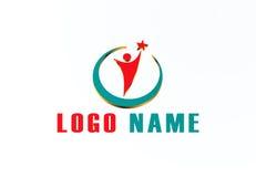 conception de vecteur de logo de société de l'or 3D Images stock