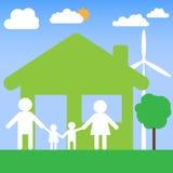 Conception de vecteur de maison familiale Image stock