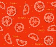 Conception de vecteur de modèle de tomates de légumes Photographie stock libre de droits