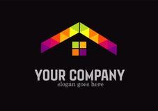 Conception de vecteur de mosaïque d'immobiliers Images stock