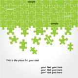 Conception de vecteur de puzzle Photos libres de droits