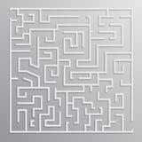 Conception de vecteur de solution de labyrinthe Image libre de droits