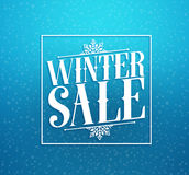 Conception de vecteur de titre de vente d'hiver pour la remise au détail dans la neige bleue d'hiver de couleur Photo libre de droits