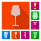 Conception de vecteur des boissons et du logo de restaurant Placez des boissons et du symbole boursier de c?l?bration pour le Web illustration stock
