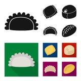 Conception de vecteur des produits et du signe de cuisson Collection des produits et du symbole boursier d'apéritif pour le Web illustration libre de droits