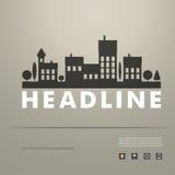 Conception de vecteur du paysage urbain noir ENV de silhouette Photos libres de droits