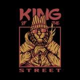 Conception de vecteur de lion de rue de roi illustration libre de droits