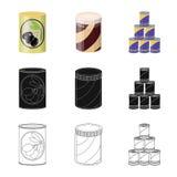 Conception de vecteur de logo de bo?te et de nourriture Collection de l'illustration courante de vecteur de bo?te et de paquet illustration libre de droits