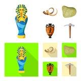Conception de vecteur de logo d'histoire et d'articles Collection de l'illustration courante d'histoire et de vecteur d'attributs illustration stock