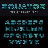 Conception de vecteur de Logo Font de monogramme linéaire ABC Lette Photographie stock