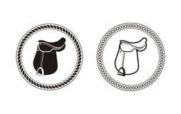 Conception de vecteur de selle de polo illustration libre de droits