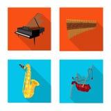 Conception de vecteur de signe de musique et d'air Collection d'icône de musique et de vecteur d'outil pour des actions Illustration Stock