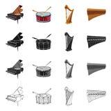 Conception de vecteur de signe de musique et d'air Ensemble de musique et de symbole boursier d'outil pour le Web Illustration de Vecteur
