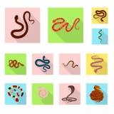 Conception de vecteur de signe de peau et de reptile Placez de la peau et de l'illustration courante de vecteur de danger illustration stock
