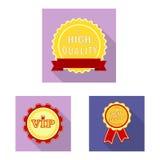 Conception de vecteur de symbole d'emblème et d'insigne Collection d'icône de vecteur d'emblème et d'autocollant pour des actions illustration de vecteur