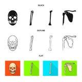 Conception de vecteur de symbole de médecine et de clinique Collection de médecine et de symbole boursier médical pour le Web illustration stock