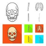 Conception de vecteur de symbole de médecine et de clinique Placez de la médecine et de l'icône médicale de vecteur pour des acti illustration de vecteur