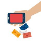 Conception de vente d'email, illustration de vecteur illustration stock