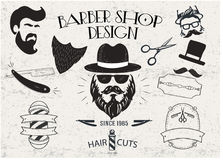 Conception de vintage Barber Shop Images libres de droits