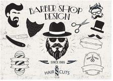 Conception de vintage Barber Shop Illustration de Vecteur