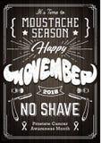 Conception de vintage d'affiche de Movember Photographie stock libre de droits