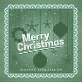 Conception de vintage de Joyeux Noël Images stock