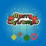 Conception de vintage de Joyeux Noël Image libre de droits