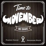 Conception de vintage de Movember sur le fond en bois Photos stock