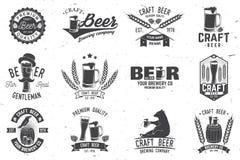Conception de vintage pour la barre, le bar et la restauration Photographie stock libre de droits