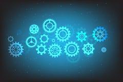 Conception de vitesse de vecteur sur le fond bleu Images stock