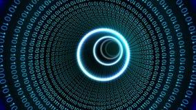 Conception de vortex de code binaire sur le noir illustration de vecteur